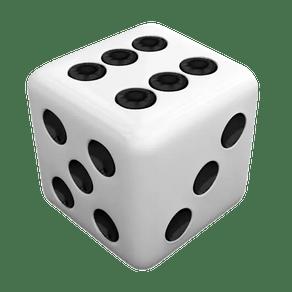 Dado-Comum-6-lados-14mm-Branco