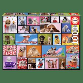 Puzzle-1000-pecas-Pets-Fazendo-Pose