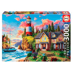 Puzzle-3000-pecas-Farol-no-Oceano