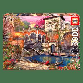Puzzle-3000-pecas-Romance-em-Veneza