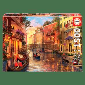 Puzzle-1500-pecas-Entardecer-em-Veneza