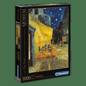 Puzzle-1000-pecas-Van-Gogh---Terraco-do-cafe-a-noite